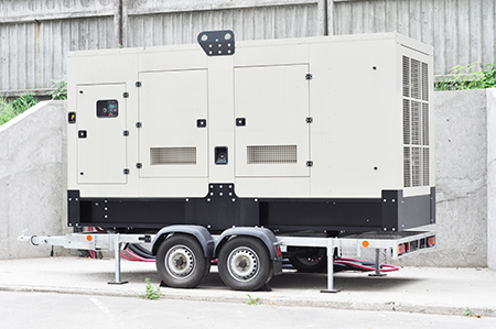 Standby generator electric for repair hurricane damage.  Office